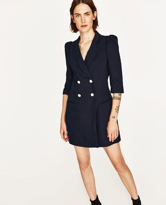 66c4ba299d2d BLAZER DRESS WITH PEARL BUTTONS from Zara | Fashion | Blazer dress ...