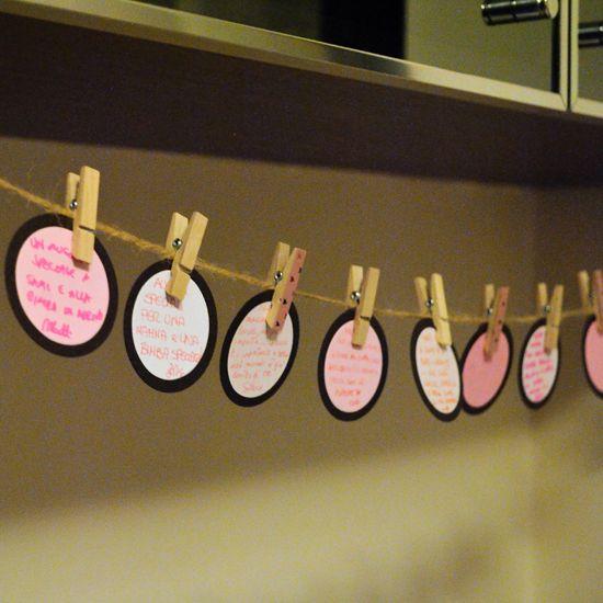 Il guestbook, per rendere indelebile il ricordo di questa festa http://www.think-ink.it/2014/06/baby-shower-tutto-in-rosa.html
