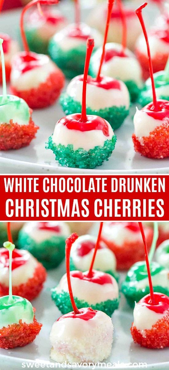 Christmas Drunken Cherries [Video] - Sweet and Savory Meals #holidaytreats