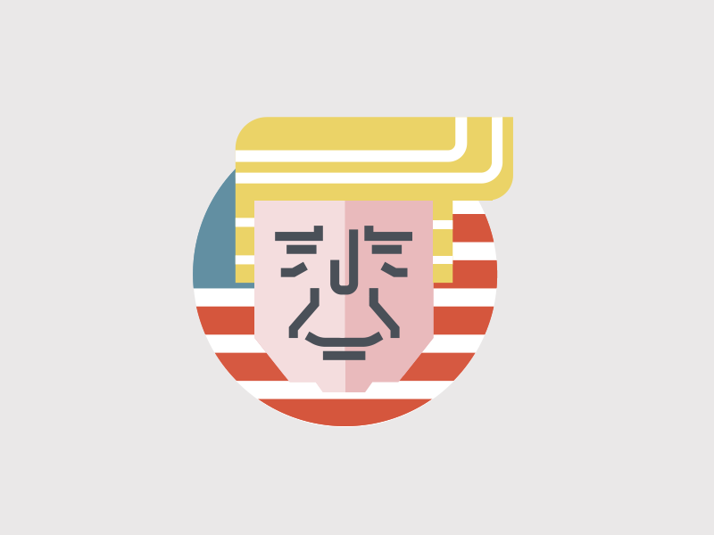 The 45th president of the United States by poposhki