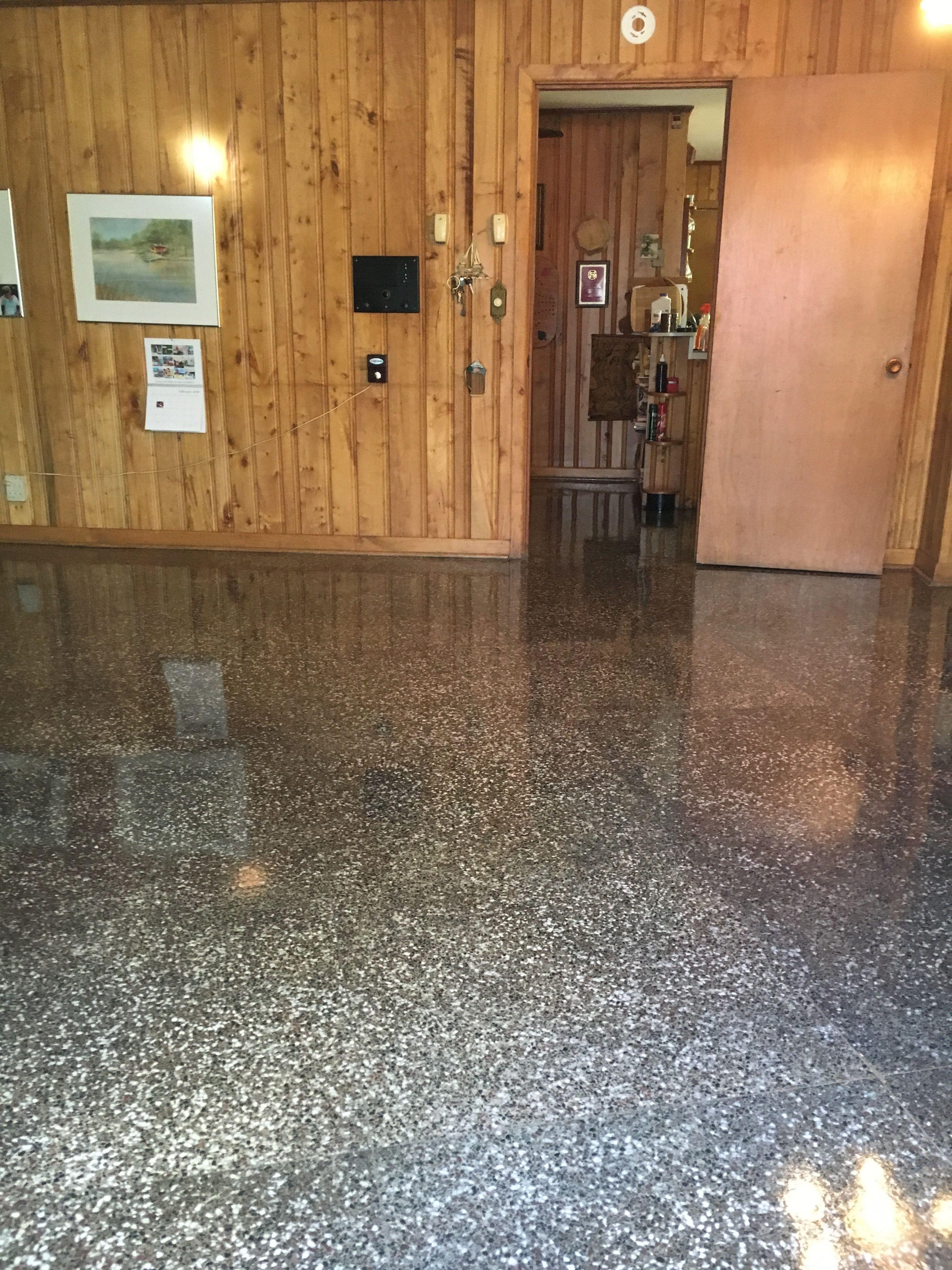 Residential Polished Terrazzo Floor Terrazzo Flooring