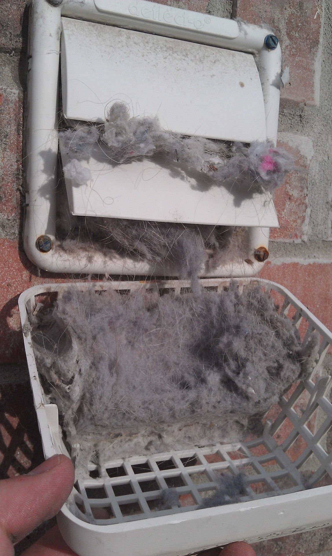 Get Rid Of This Tiny Squares Type Of Dryer Vent Cover They Might Keep Animals Out But They Cause Lint To Build Up Dryer Vent Dryer Vent Cover Vent Covers Diy