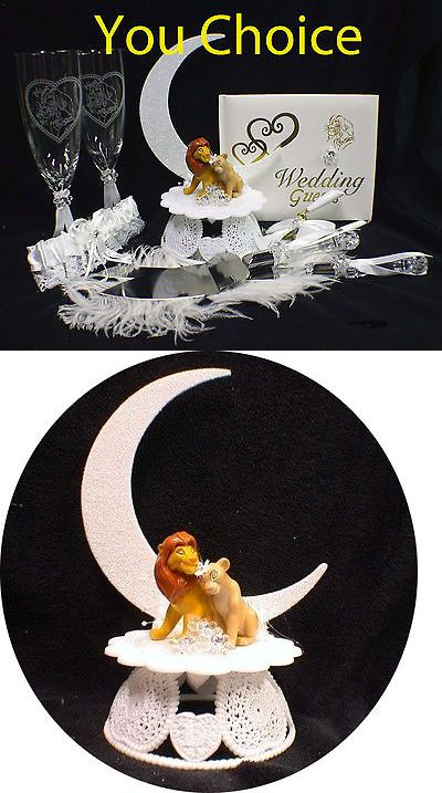 Wedding Cakes Toppers Lion King Disney Simba And Nala Cake Topper Nature Forest Top