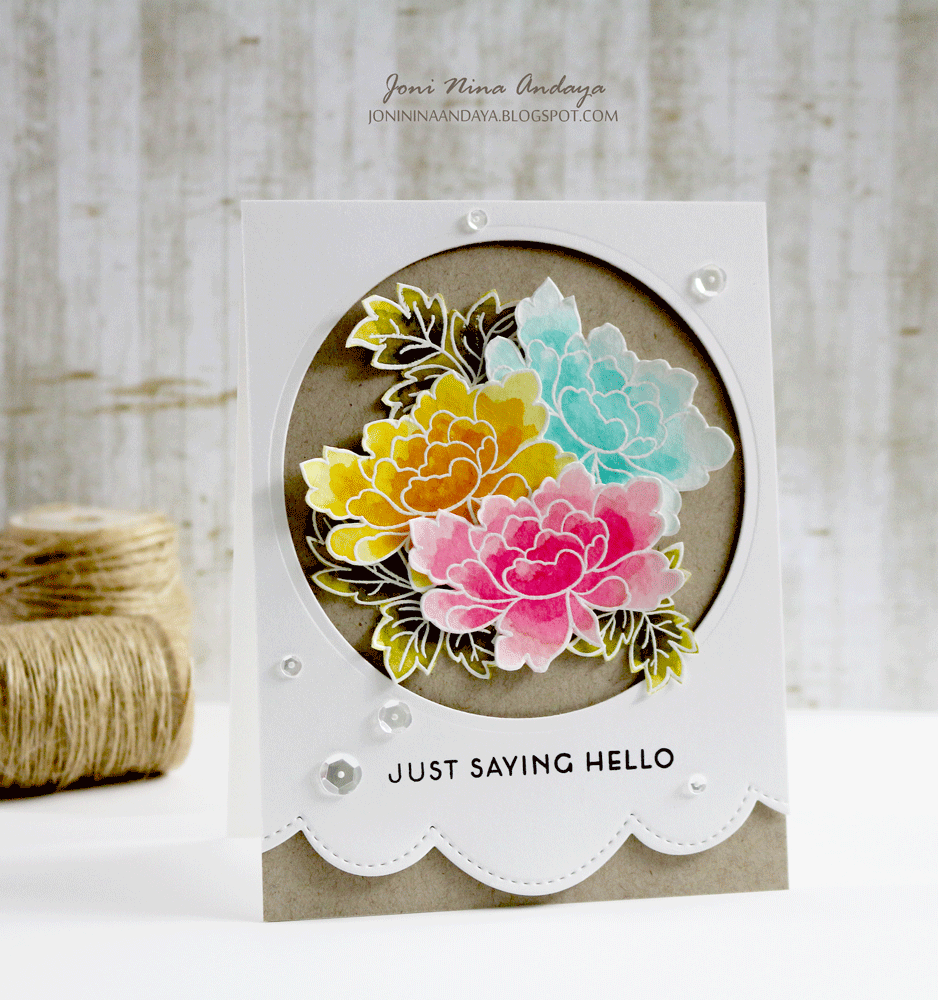 Papell with Love using Altenew Peony Scrolls