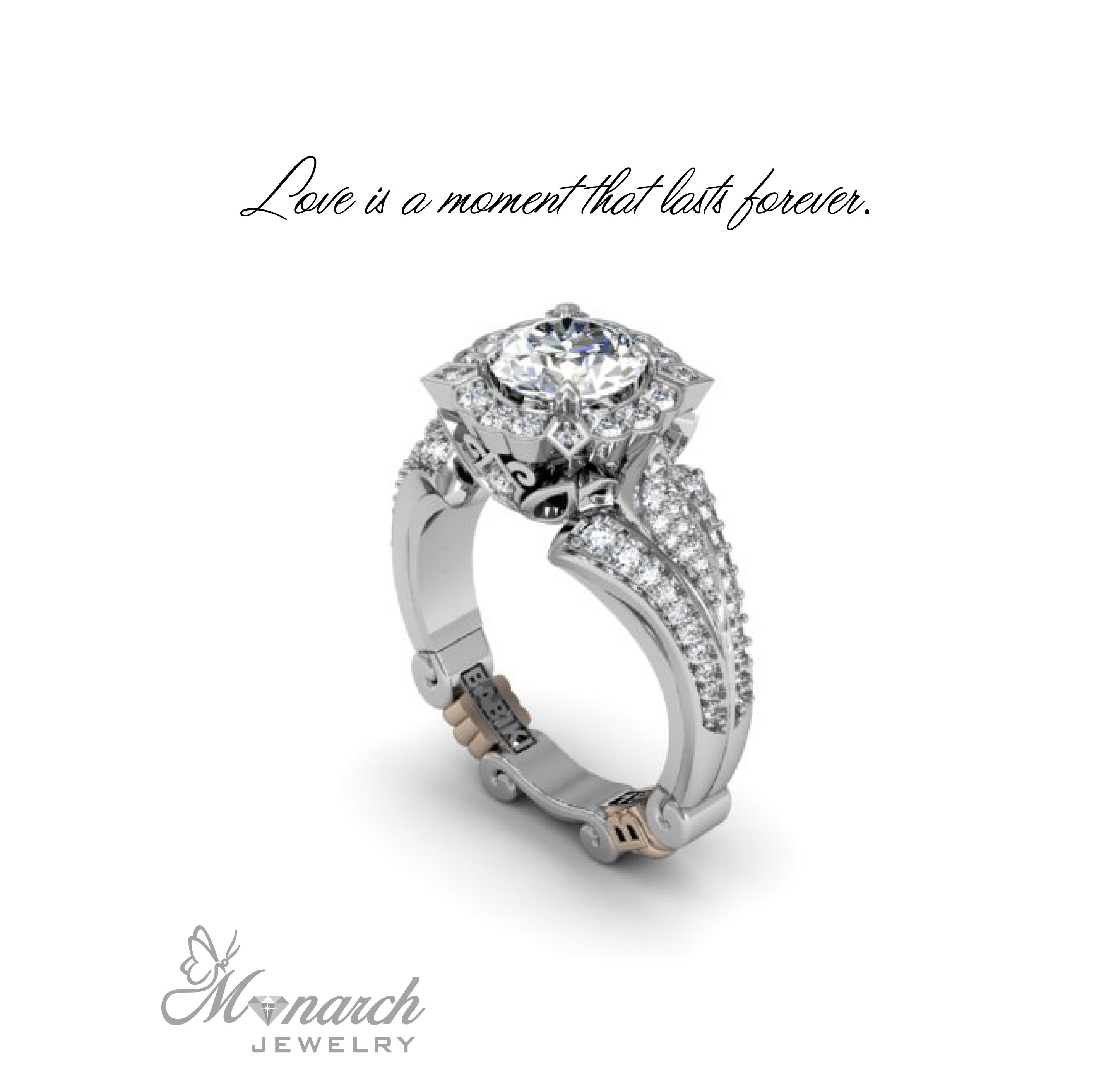 Love is a moment that lasts forever Babiki diamond engagement ring