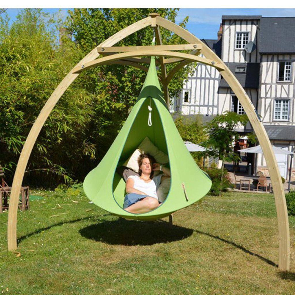 cacoon hammock wooden tripod stand | Cacoon hammock, Hammock ...