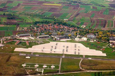 Overview Of Us Army Illesheim Storck Barracks Germany Germany