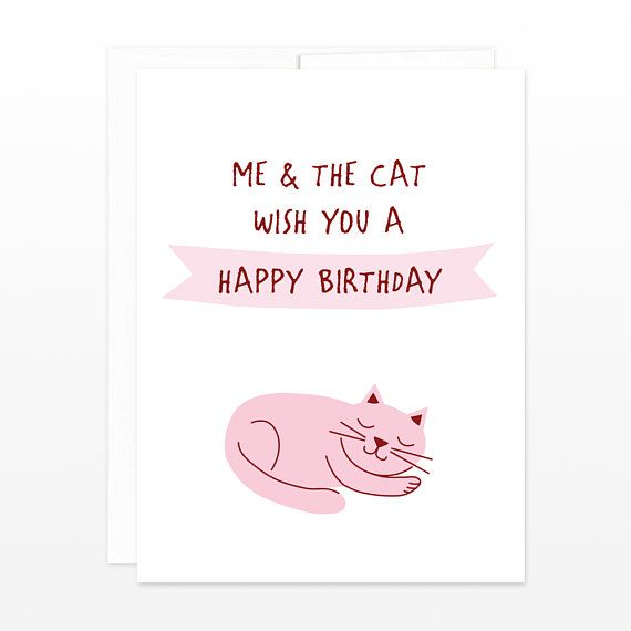 Me The Cat Wish You A Happy Birthday