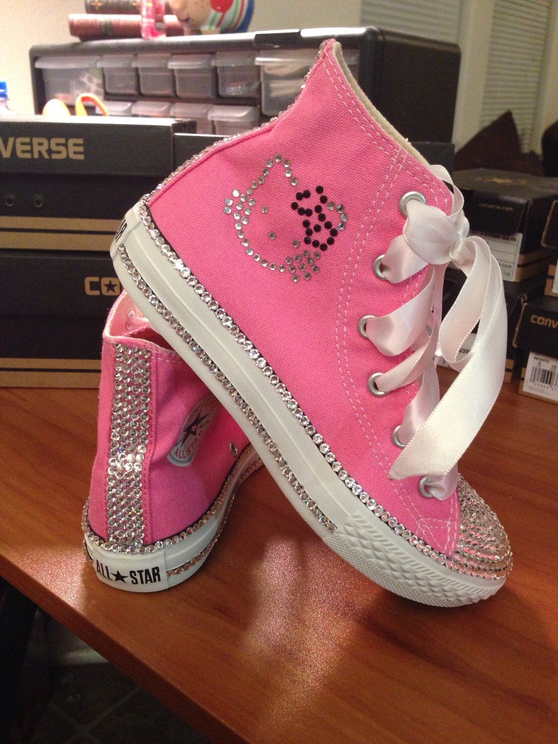 Adult Blinged out Hello Kitty Converse by Munchkenzz on Etsy https ...