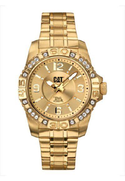 cebca51d02a0 El modelo A4 381 13 238 para  dama en  dorado  gold  reloj  watch  mujer   woman  lady  CAT  Caterpillar  México
