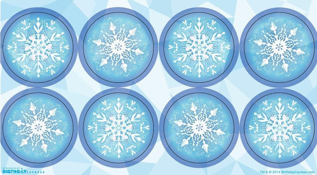 ed9fe294c snowflake winter wonderland small lollipop sticker sheet  set of 8 ...