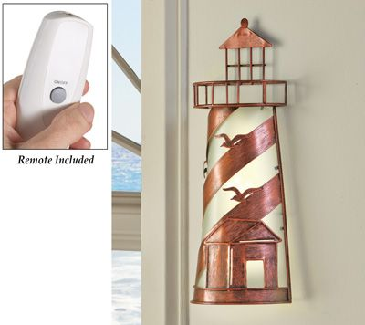 Remote Control Nautical Lighthouse Wall Lamp Nautical Wall Light Nautical Home Decorating Wall Lamp
