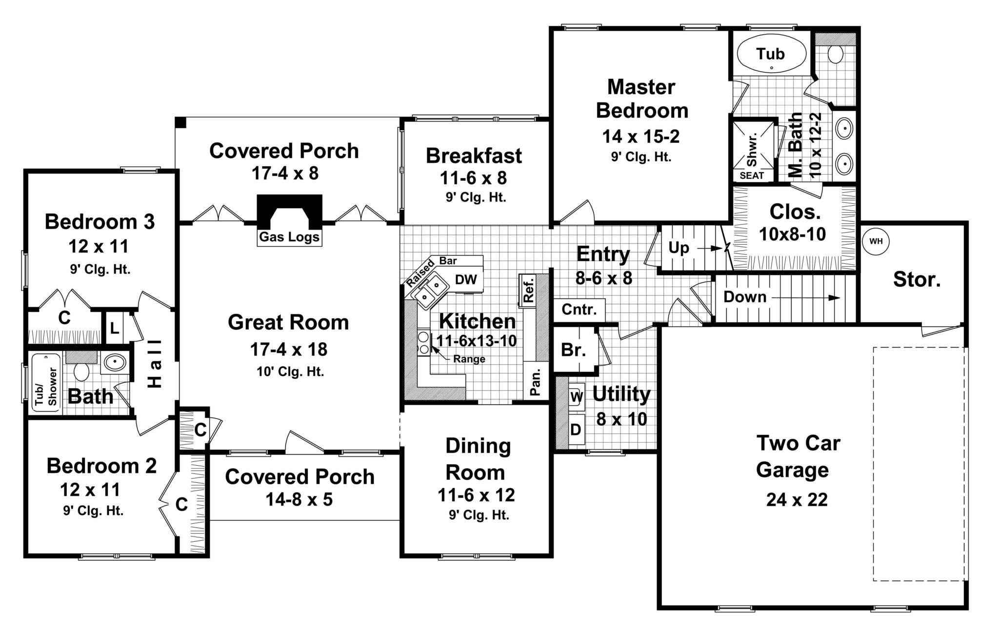 Hpg 2024 1 The Gabriel House Plans House Plan Gallery Brick Siding