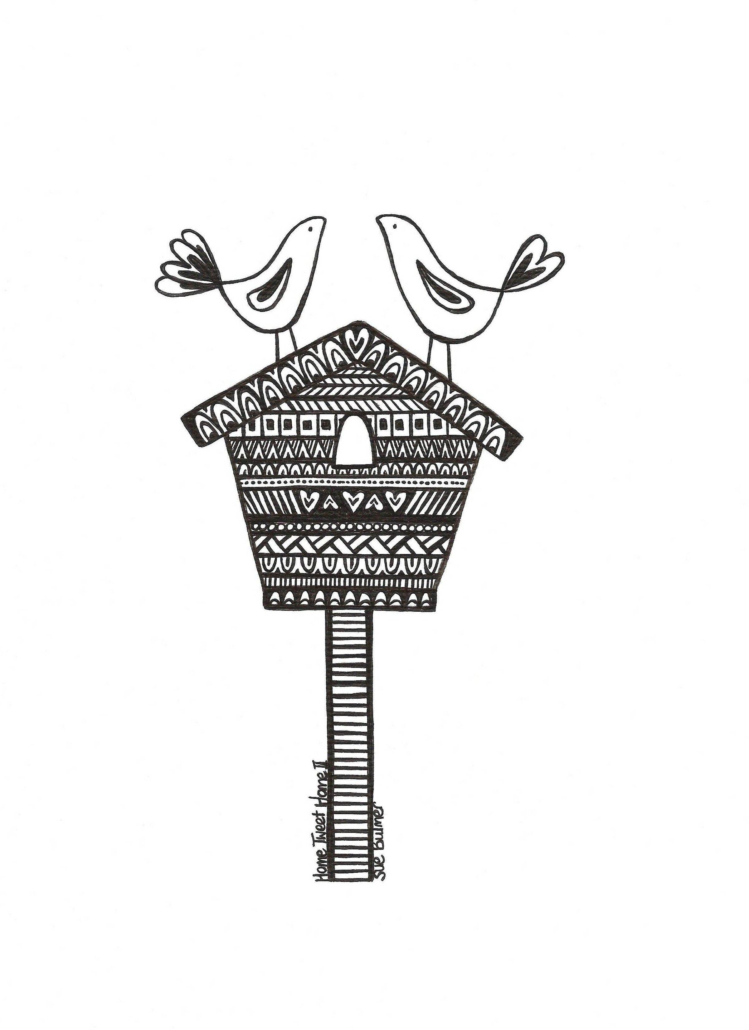 Home Tweet Home tea towel design The Heart Gallery