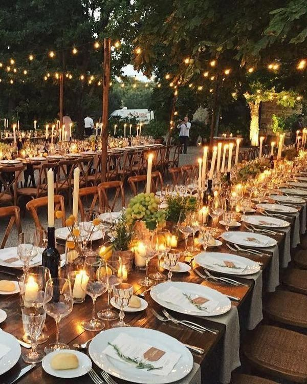 Romantic Rustic Country Wedding Lighting Decor Ideas