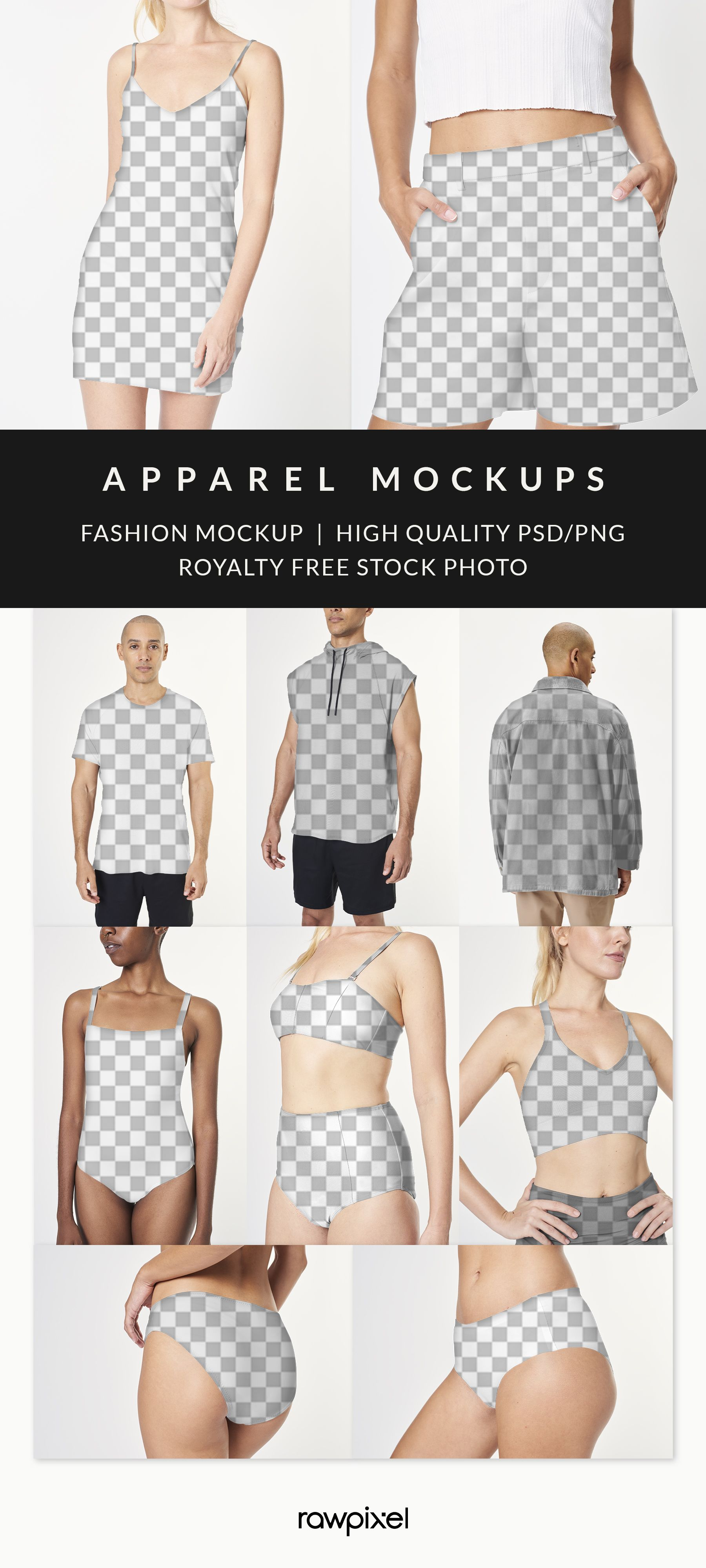 High Resolution People Apparel Fashion Mockups And Stock Photo Png Set Clothing Mockup Fashion Mockup Apparel