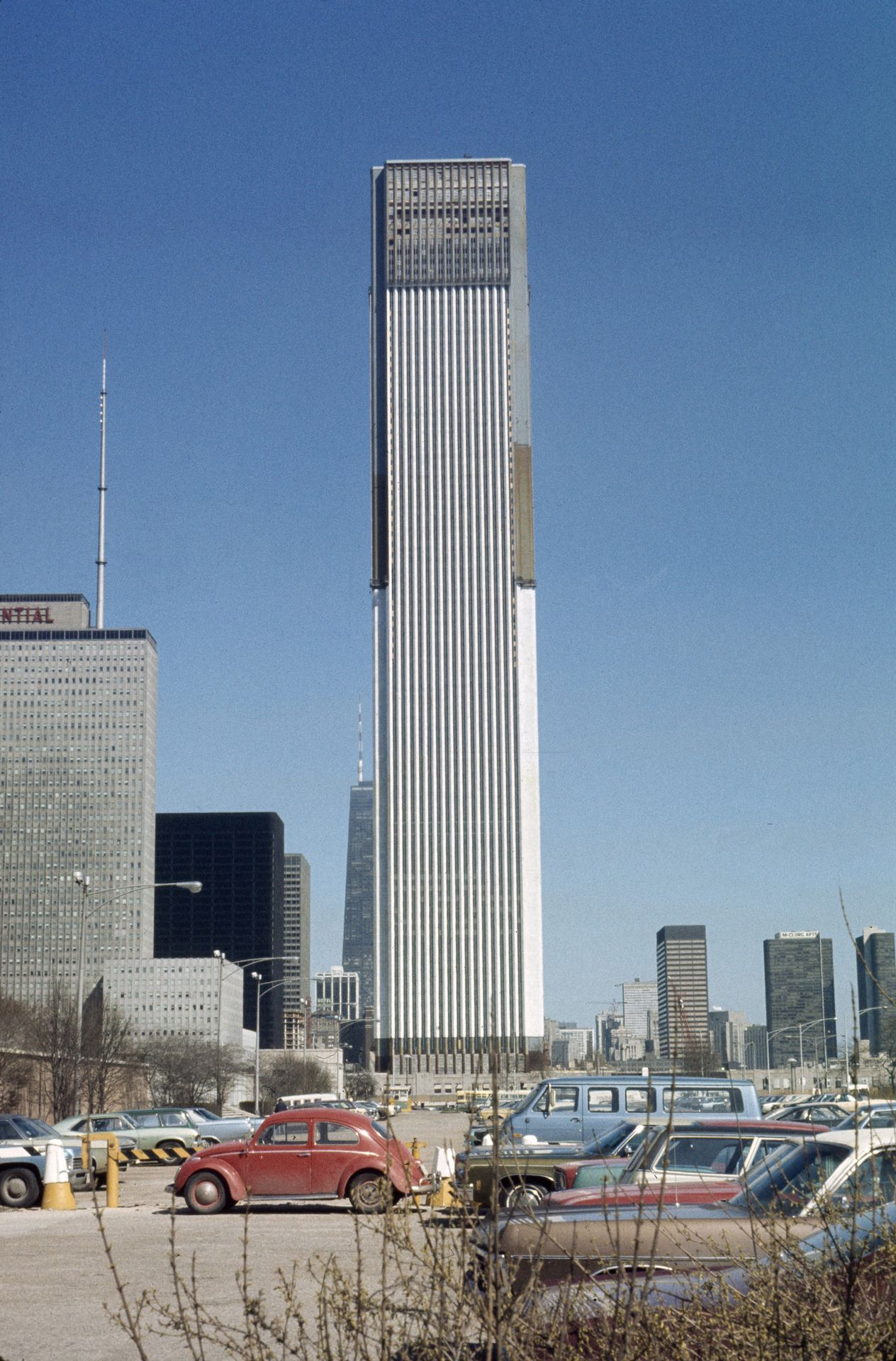 Photograph Of The Standard Oil Building Now Aon Center Under
