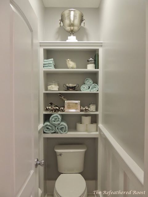 Water closet decor on pinterest decorating around for Small toilet room ideas