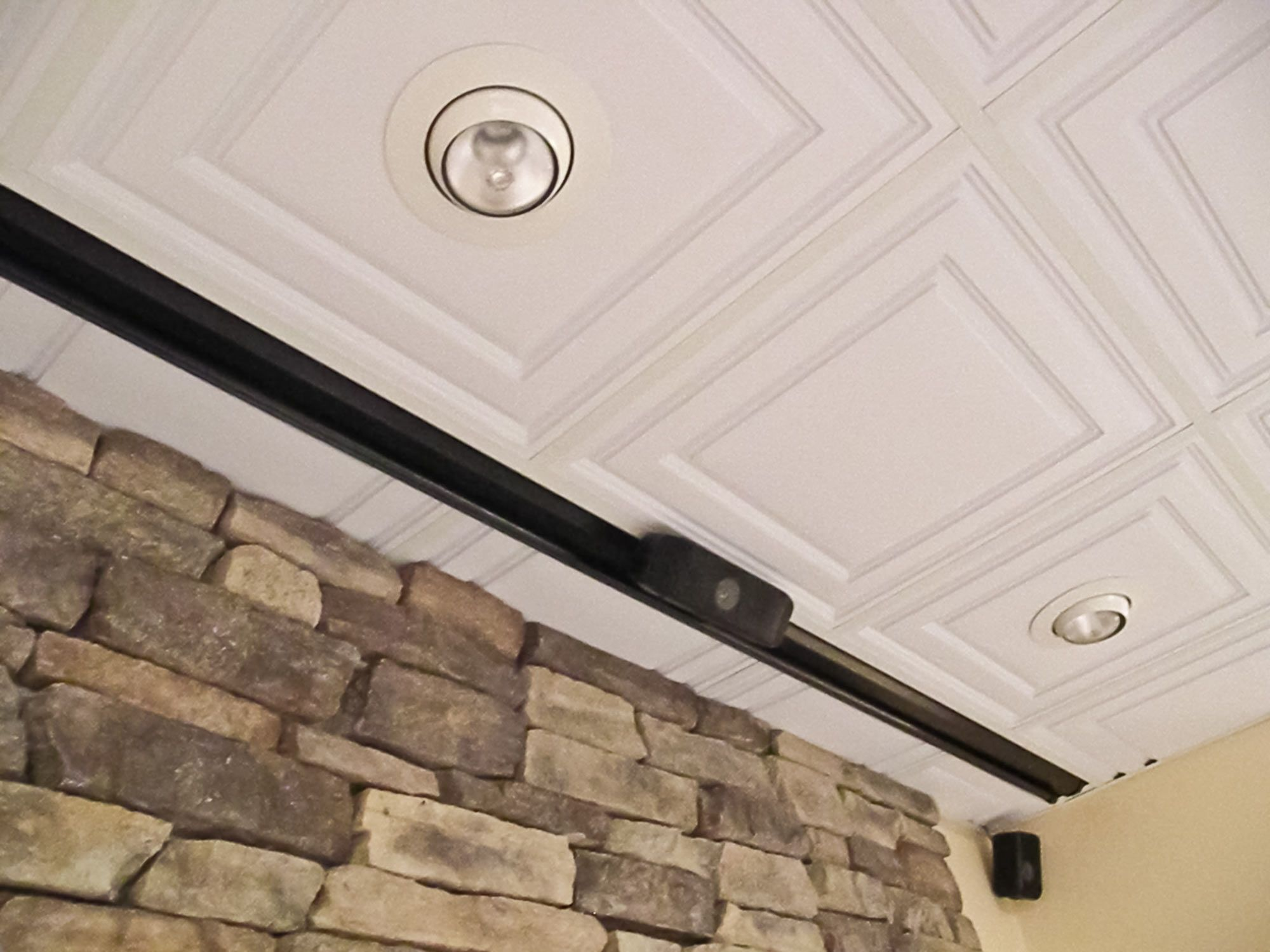 Stratford ceiling tiles being used with canned and track lighting drop ceiling tiles 2x4 acoustic