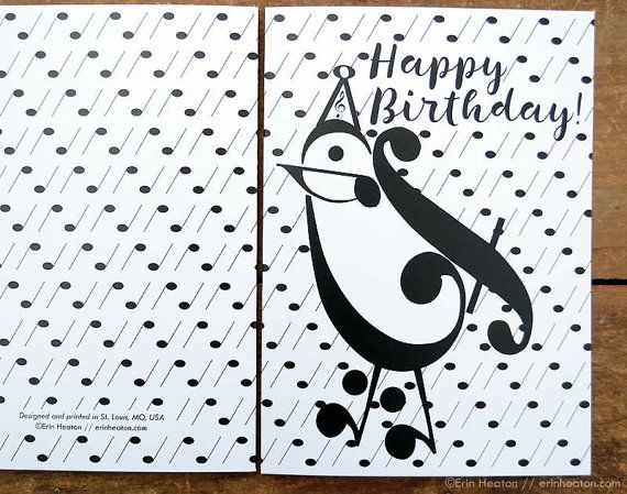 Music birthday card party bird music card music note birthday music birthday card party bird music card music note birthday card musician birthday card happy birthday music teacher gift bookmarktalkfo Image collections
