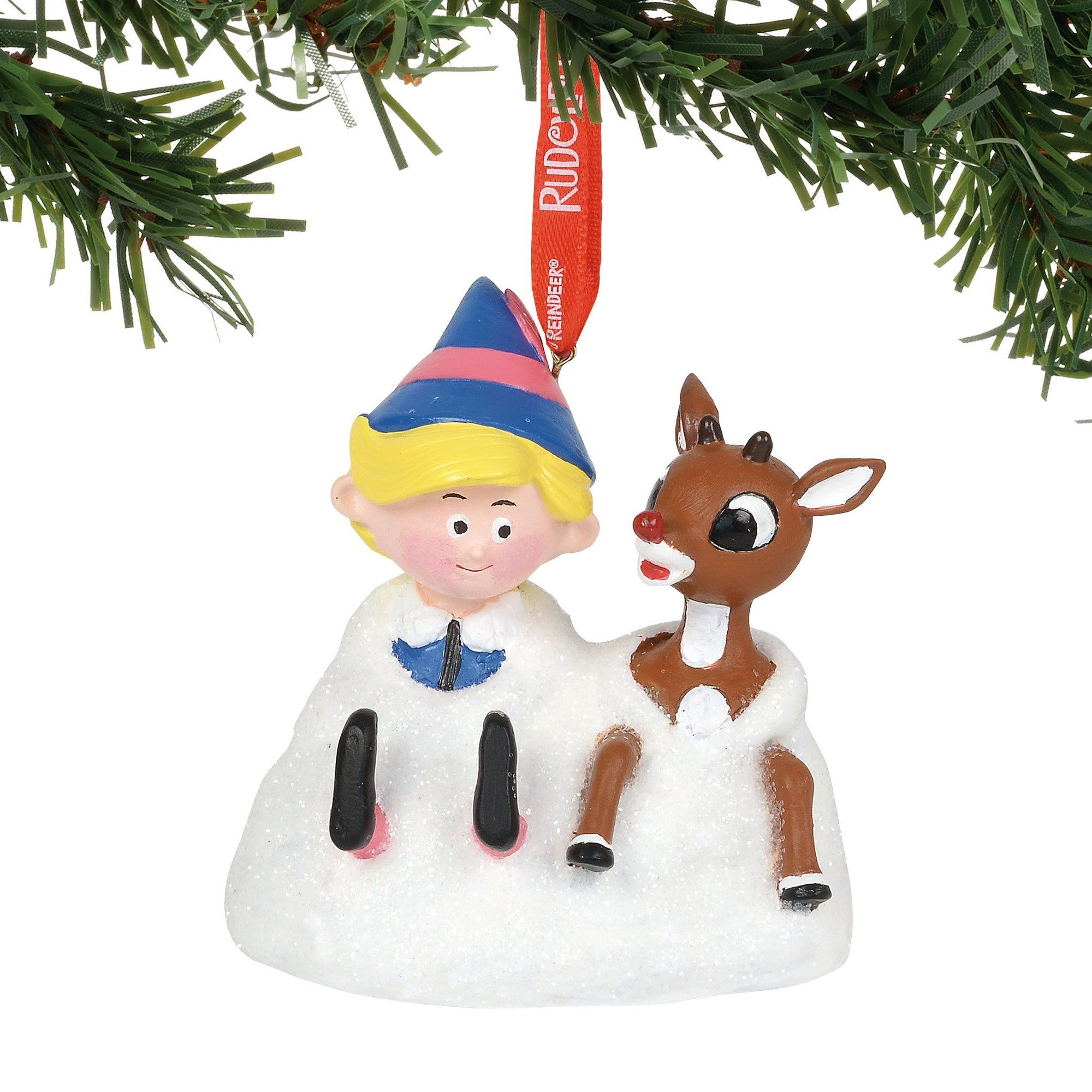Department 56 Rudolph The Red Nosed Reindeer in a Wreath