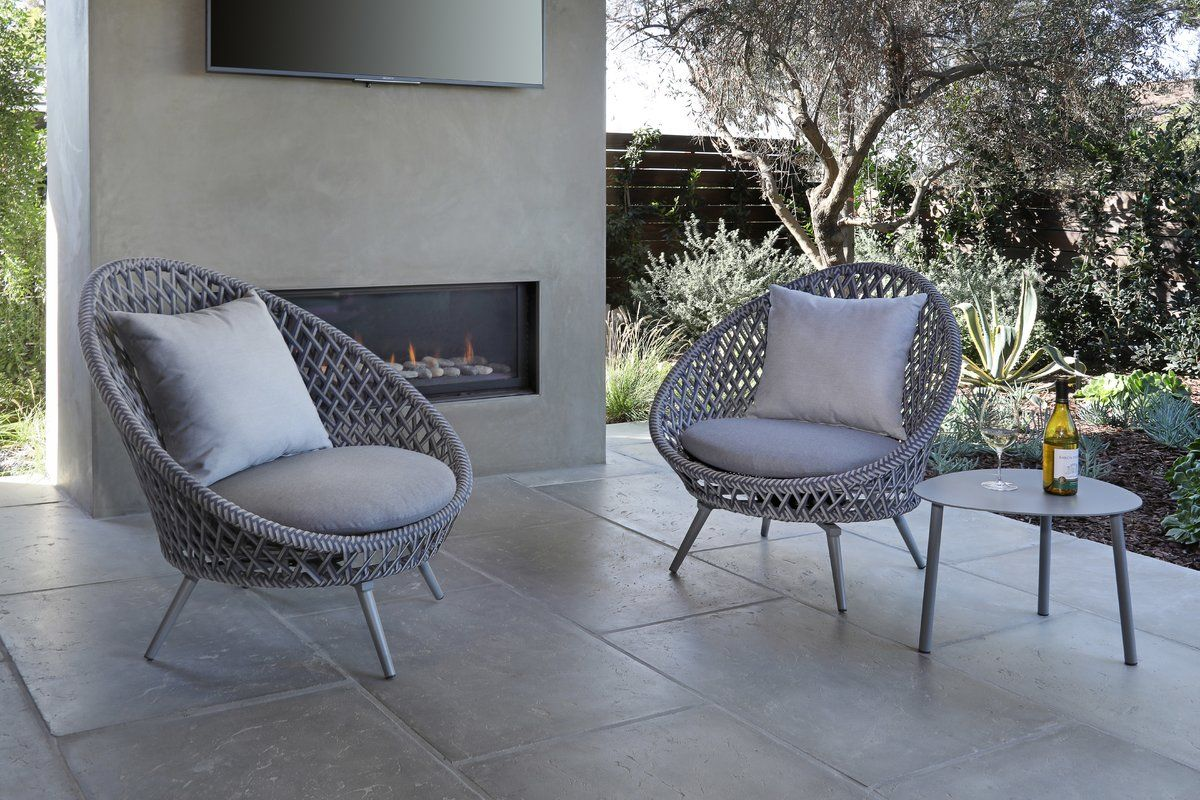 Malizia 3 Piece Conversation Set With Cushions Outdoor Sofa Sets Outdoor Furniture Style Conversation Set Patio