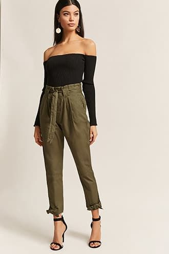 Self Tie Paperbag Waist Pants Products In 2019