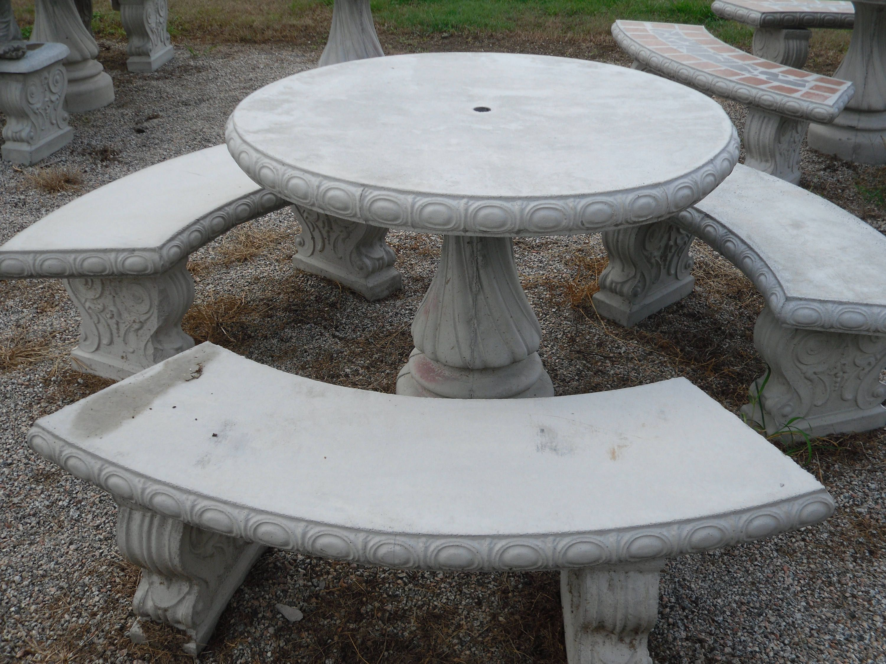 Outdoor Table Set Patio Set Cement Patio Table Set Outdoor Etsy In 2021 Concrete Outdoor Table Concrete Table Patio Table Set Concrete patio table and bench