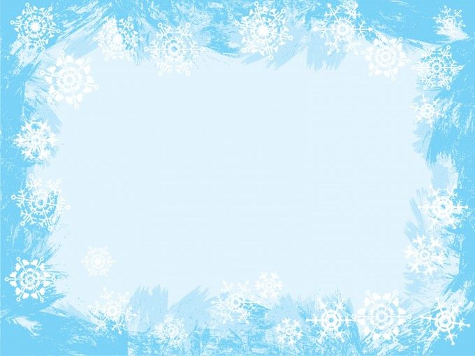 Light Blue PPT Backgrounds Snowflake Powerpoint