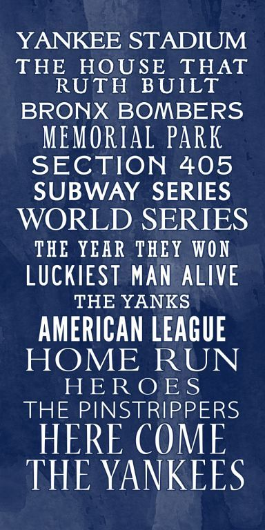 Yankees wall art! This is great for a Yanks fan like me :) | This is ...