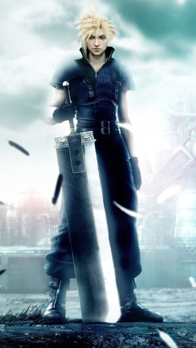 Final Fantasy Boy Iphone Wallpapers Final Fantasy Vii Cloud