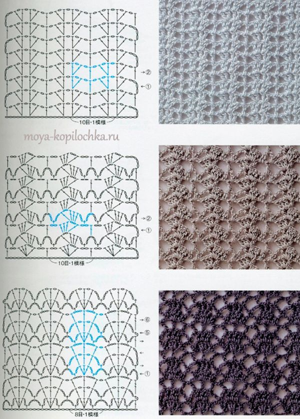 Colección de patrones y motivos, los de punto | Mis tejidos ...