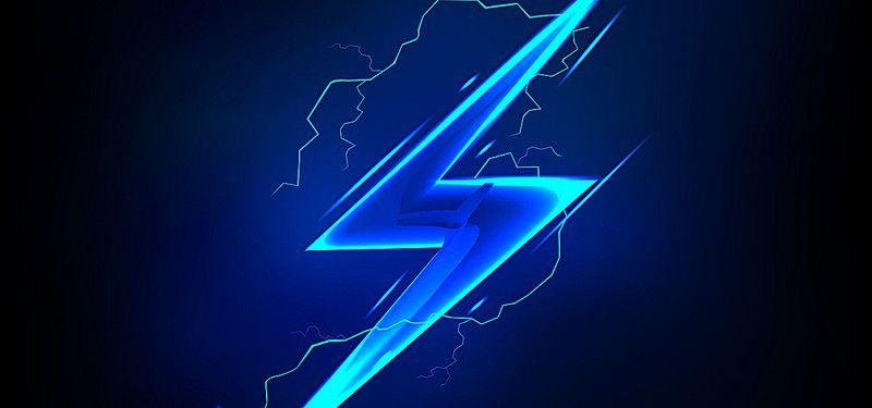 Blue Lightning Background Blue Lightning Lightning Bolt Tattoo Cool blue neon wallpaper