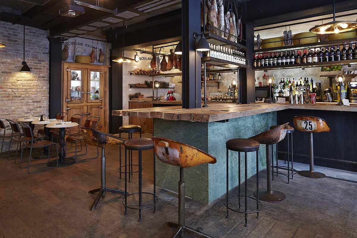 imágenes. diseño interior en pizzerías estilo industrial