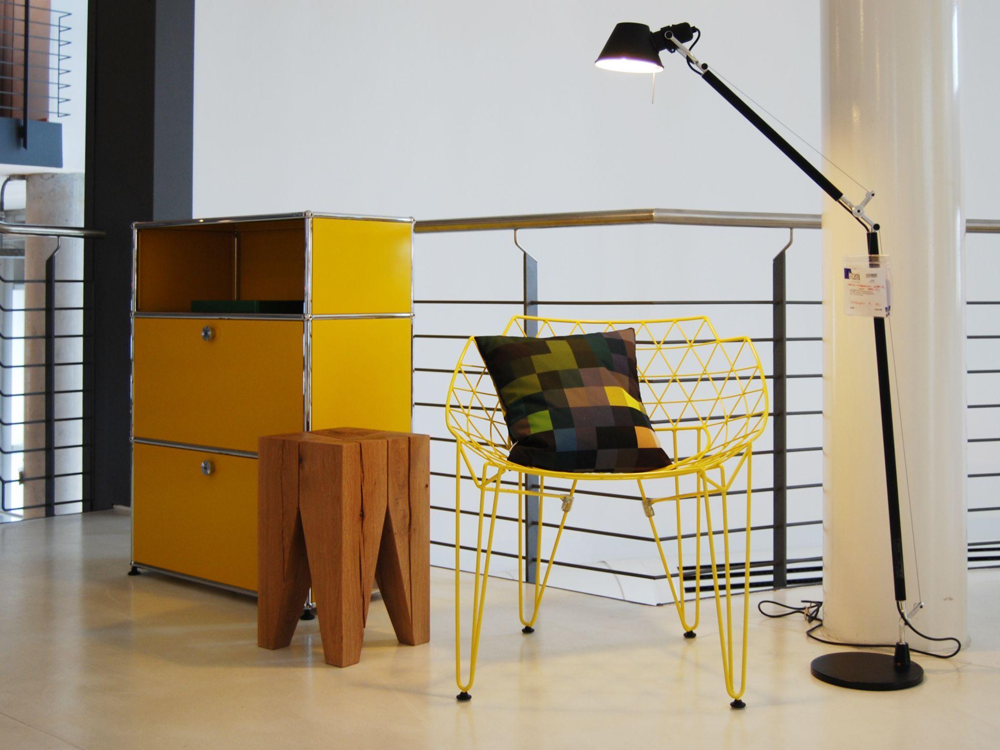Usm Haller Modular Furniture In Golden Yellow Exhibition At Interni