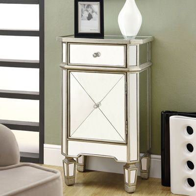 Meijer Product View Mirrored 1 Drawer Accent Cabinet 231984
