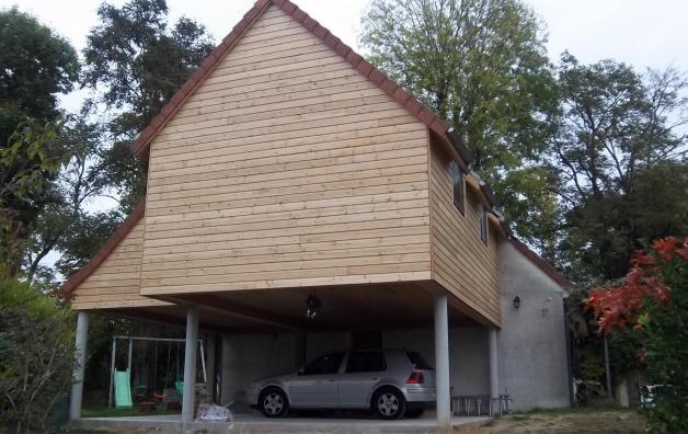 Extension maison en bois gambay yvelines extension pinterest extension maison maisons - Maison bois pilotis ...