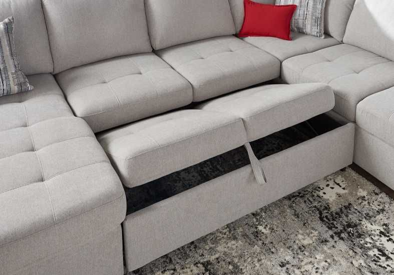 Angelino Heights Gray 3 Pc Sleeper Sectional Rooms To Go