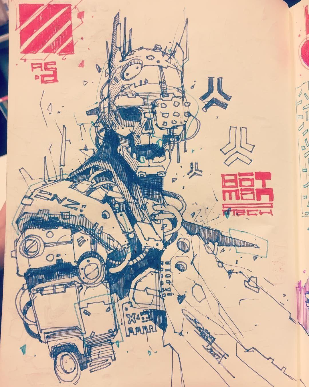 Pin by Derek Aldana on Inkz Cyberpunk art, Robot art