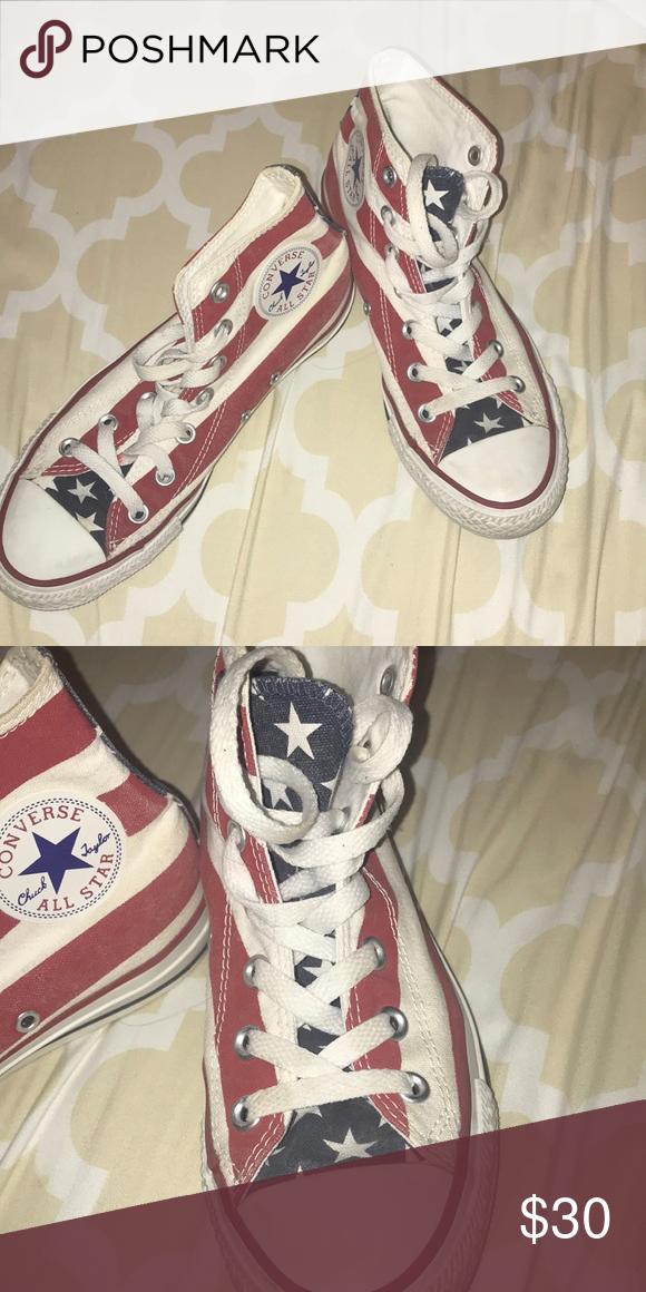 American Flag Converse size 4.5M/6.5W