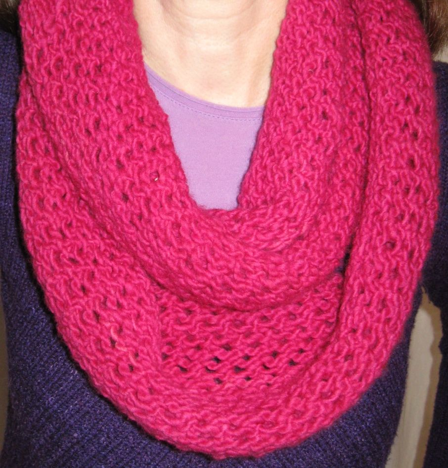 Infinity scarf pattern sewing choice image craft decoration ideas pink infinity scarf in malabrigo worsted knit or crochet pink infinity scarf in malabrigo worsted jeuxipadfo bankloansurffo Choice Image