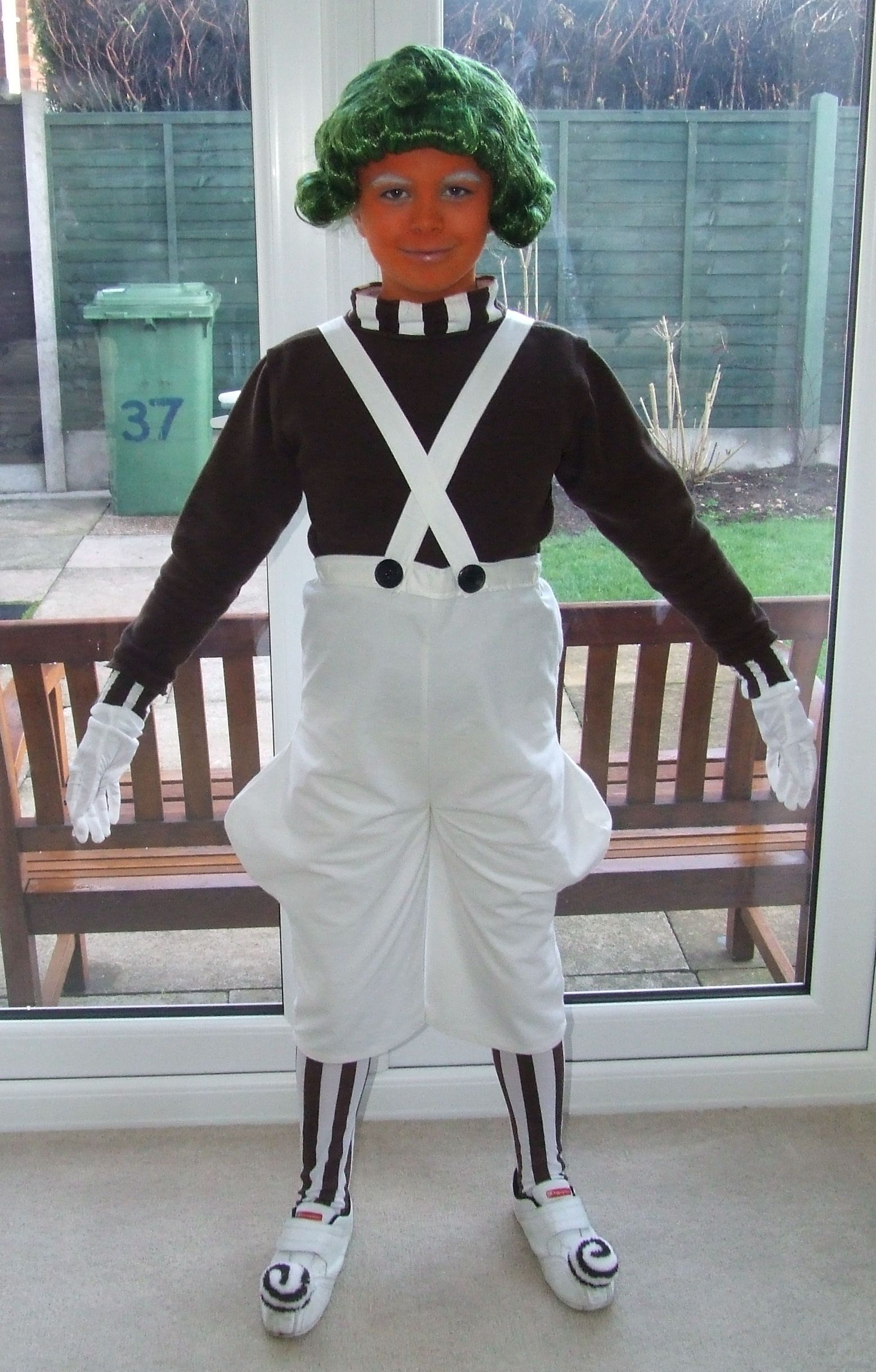 Factory Worker Fancy Dress Costume Umpa Lumpa Willy Wonka Adult ...