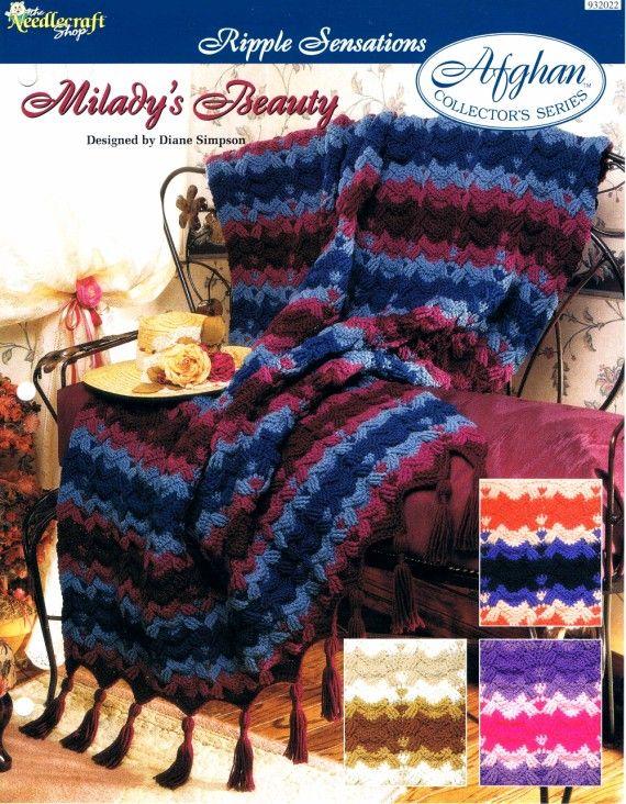 Miladys Beauty Afghan Crochet Pattern Afghans Pinterest Afghan
