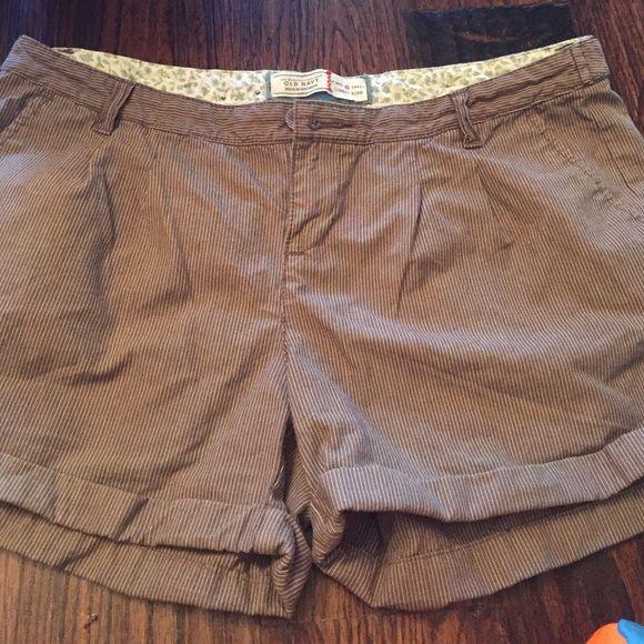 Old Navy shorts Brown and tan pin stripes Old Navy Shorts