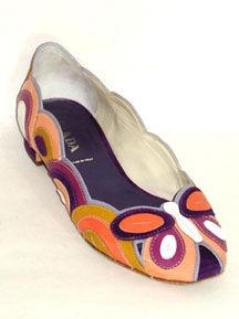 Prada Butterfly Peep-Toe Flats free shipping outlet locations buy cheap top quality sale with mastercard v87OPfy