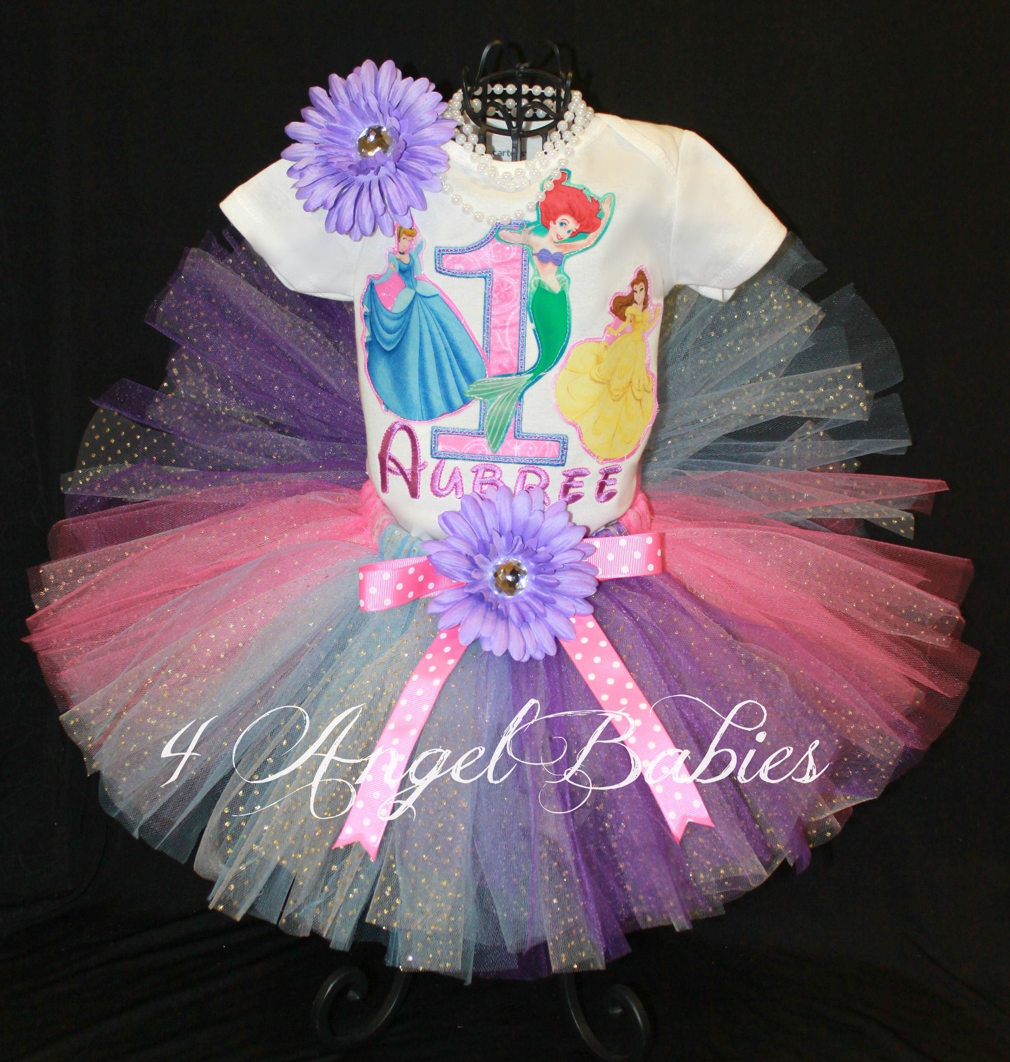 71c8db537b7f Disney Princesses Girls Birthday Tutu Outfit Tiana