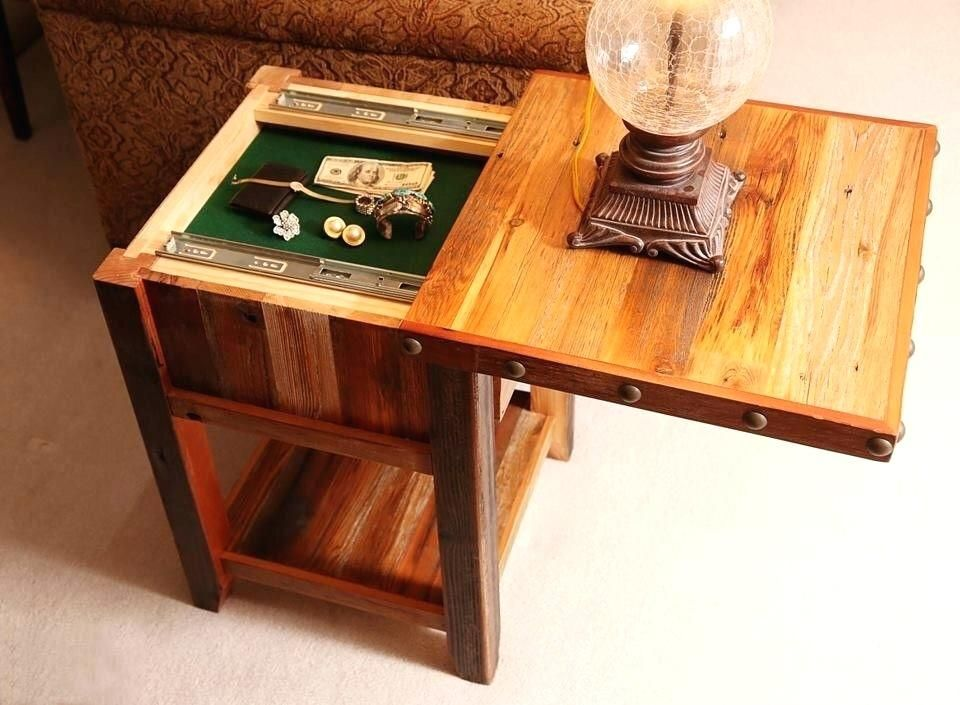 Hidden Gun Cabinet Coffee Table Plans.Hidden Compartment Nightstand End Table Storage Compartments