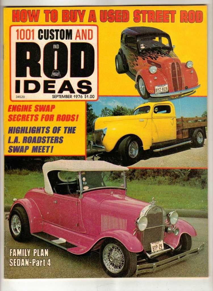 1001 Custom & Rod Ideas September 1976 Antique Ford Truck Hot Old ...