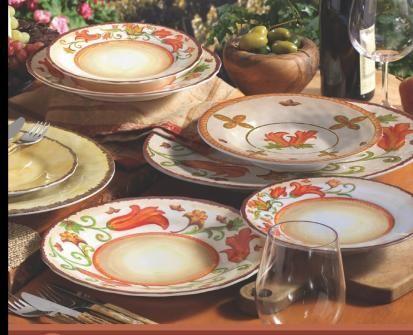 Tuscan Farmhouse Melamine Dinnerware Collection & Tuscan Farmhouse Melamine Dinnerware Collection   Melamine/Dishes ...