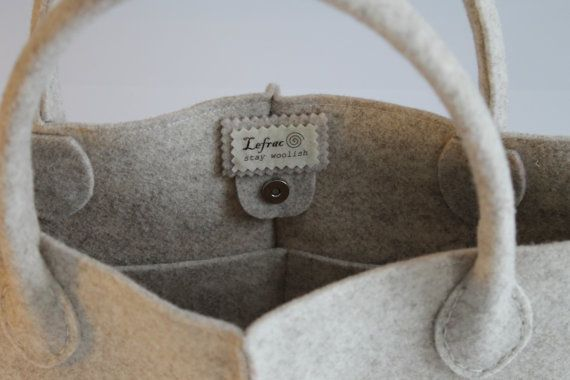 Elegant and Casual Felt Bag from Italy, Tote Bag, Market Bag, Felt ...